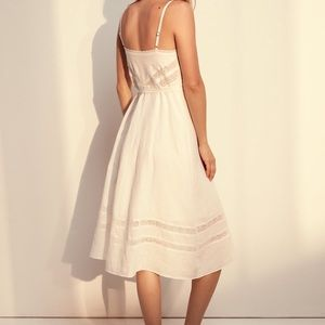 Aritzia Dresses - Wilfred Free ivory linen dress size XS